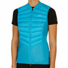 616257-407 NWT Women's Nike Aeroloft 800 Down Running Vest, Blue. Xtra Small