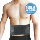 Man Woman Back Waist Lumbar Support Brace Belt Strap Pain Relief Posture Trimmer
