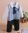 Finto completino abito cerimonia bimbo 80 - 95cm Fake formal suit for boy IM1001