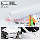 ** Gloss Glossy White Vinyl Car Wrap Sticker Decal Bubble Free Air Release Film