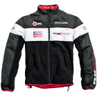 FLM Motorbike Motorcycle Fleece Casual Sports Jacket - Black / White