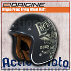 Casco Custom HELMET JET Origine Primo Flying Wheel Matt Moto Scooter Cafe' Racer