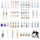 1pcs Gold Crystal Rhinestone Belly Button Ring Navel Bar Body Piercing Jewelry