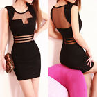 Women Sexy Slim Mini Clubwear Bodycon Evening Party Cocktail Dress Black UR