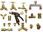 BRASS garden hose connectors, fittings & taps