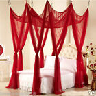 Wedding set bedding canopy bedroom decoration mosquito net hook king size red image