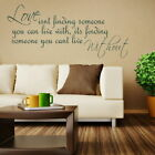 Love Finding Someone Removable Wall Quote Interior Wall Quote Sticker DAQ14