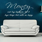 Money Cant Buy Happiness Motivational Quote Inspirational Wall Quote DAQ39