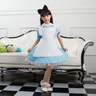Girls Alice In Wonderland Kids Cosplay Maid Costume Maids Outfit Fancy Dress HOT