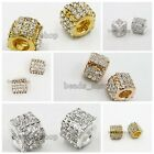 5/25pcs Jewelry Gold/Silver Plated Rose Gold European Charms Beads Hot Sale BS