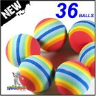 Rainbow Stripe Foam Practise Training Golf Balls any quantity of 6 to 100