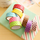 5 10 Roll DIY Decorative Mix Color Washi Sticky Paper Adhesive Tape Dot Style