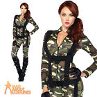 Pretty Paratrooper Costume Adult Sexy Army Girl Fancy Dress Leg Avenue Ladies