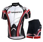 Road Bike Short Sleeve Set Clothing Top & 3D Padded Shorts Summer Cycling Jersey