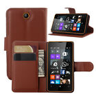 Flip Card Wallet PU Leather Case Stand Cover Skin For Microsoft Nokia Lumia 430
