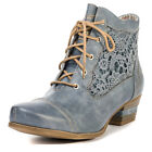 Mustang 1187501 Womens Synthetic Leather Sky Blue Ankle Boots
