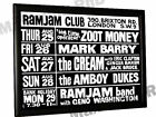 Cream Eric Clapton Concert Poster Ram Jam Club Brixton London 1966
