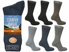3 Mens David James BIG FOOT Cotton Blend Outdoor Walking Hike Socks UK 11-13