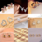HOT Women 925 Sterling Silver/Gold Crystal Rhinestone Ear Stud Earrings Fashion