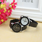 Fashion Women Ladies Crystal Analog Stainless Steel Leather Quartz Wrist Watch
