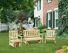 Pressure Treated Pine Outdoor English Garden Set Amish Made USA-7 Paint Options