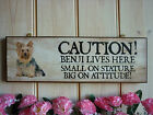 PERSONALISED YORKIE DOG SIGN CAUTION SIGN WARNING SIGN BEWARE OF THE DOG SIGN