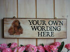 HANDMADE COCKER SPANIEL SIGN DOG PLAQUE COCKER SPANIEL GIFT HOUSE PLAQUE SIGN