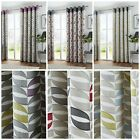 Curtains Fully Lined Eyelet Pair Ready Made Ring Top Luxury Copeland Fusion