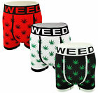 12 pairs Mens Boxer Shorts Seamless Trunks Briefs Adults Underwear Weed Designer
