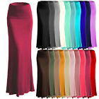 Women's A-line Full Length Rayon Span Maxi Skirt  Made in US