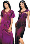 women nighties with satin lycra gowns sleep wear nightdress nightwear 2100 UK