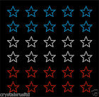 30 USA Colour Stars Iron On Rhinestone Transfer Crystal Hotflix t-shirt applique