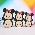 Steamed Bread Mickey Minnie Silicone Back Case Cover for  iPhone 4S/5S/6/6 Plus