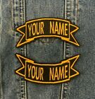 PERSONALISED CUSTOM MADE TO ORDER RIBBON BIKER PATCHES SEW ON