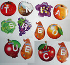 2 Letters Magnets Gervais Fruits Vegetables from France Read lernen French