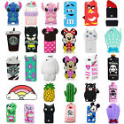 3D Cartoon Animals Soft Silicone Gel Back Rubber Case Cover For Various Phone