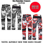 camouflage bikers trousers waterproof cordura motorcycle textile CE armour