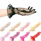 """25cm 10"""" Wrist Length Lace Gloves Evening Prom Ball Party Wedding Bridesmaids"""