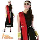 Adult Goddess Black Toga Roman Greek Historical Costume Fancy Dress Outfit New