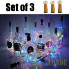 3pcs Wine Bottle Cork Lights Copper Led Light Strips Rope Lamp Kit Diy For Decor