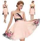 VINTAGE 50's 60s Flower Evening Party Masquerade Prom Ball Gown Short Mini Dress