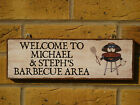 PERSONALISED BBQ SIGN BARBECUE SIGN OWN WORDING PLAQUE YOU CHOOSE NAMES DINING