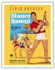 Elvis Presley Blues HAWAII Goetze 1961 Vintage Film Movie Poster Fine Art Print