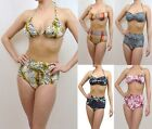 VINTAGE RETRO HIGH WAISTED BIKINI SETS SWIMWEAR BRIEF & TOP URBAN OUTFITTERS