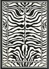 Animal Print Zebra Skin Area Rugs Exotic Striped African Contemporary Carpet