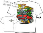 Rat Fink T Shirt Flaming Hair Corvette Big Daddy T Ed Roth Tee Sz M L XL 2XL 3XL