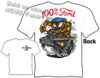 100% Ford Rat Fink T Shirt Big Daddy Tee 1965 Falcon 65 Gasser Sz M L XL 2XL 3XL