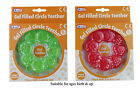 BNIP Baby FunTime Circle Cooling Gel Filled Teething Ring Green or Red 0mths+