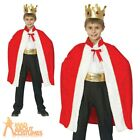 Child Kings Robe Costume Royal Three Kings Christmas Nativity Fancy Dress Outfit