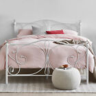 NEW Classical Christina White Metal Bed Frame